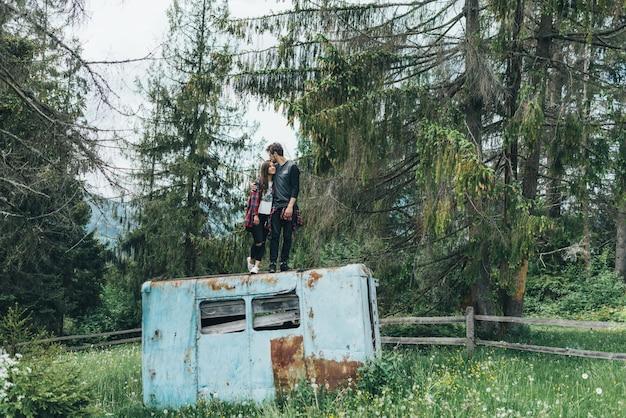 Blick berge im freien transport berg