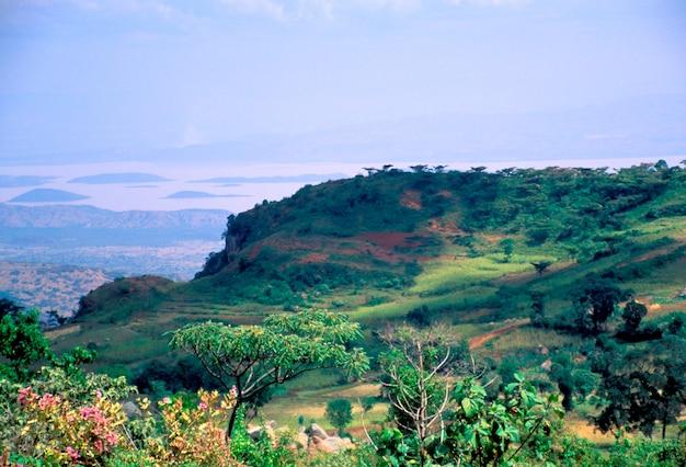 Blick vom dorf dorze in äthiopien