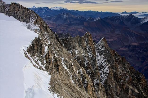 Blick vom monte bianco (mont blanc) valle d'aosta italien