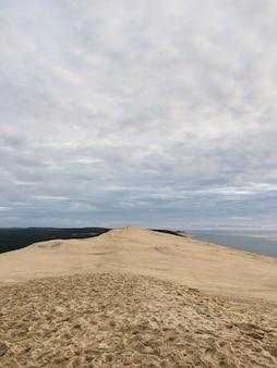 Blick von der düne von pyla, am höchsten in europa frankreichs