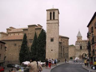 Blick von der mittelalterlichen stadt toledo