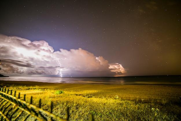 Blitz am strand von platja llarga