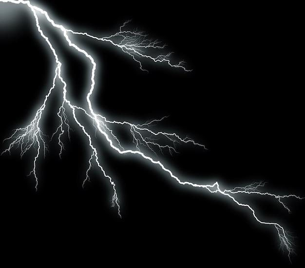 Blitz auf schwarzem hintergrund