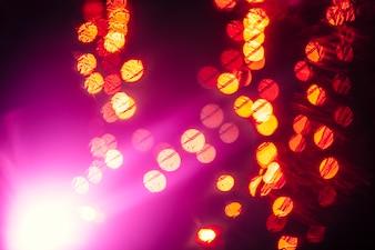 Blitz in der Nähe von Lichtpunkten