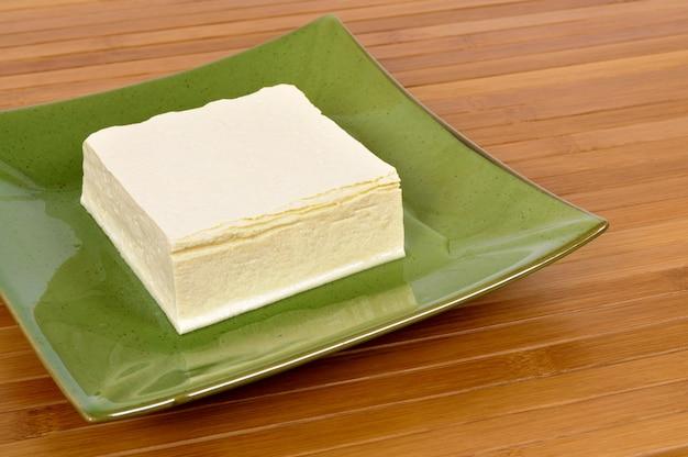 Block frischer tofu