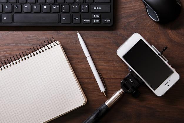 Blogger-arbeitsplatz