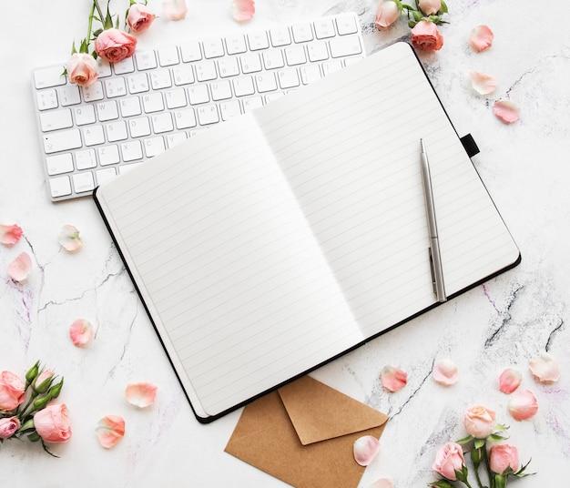 Blogger- oder freelancer-arbeitsbereich