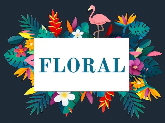 Blossom floral natürliches flaches design