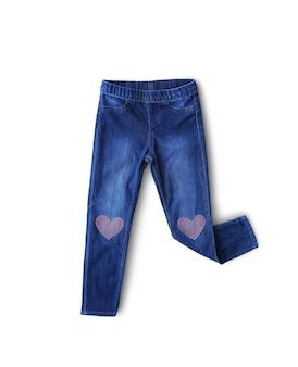 Blue jeans über weiß isoliert