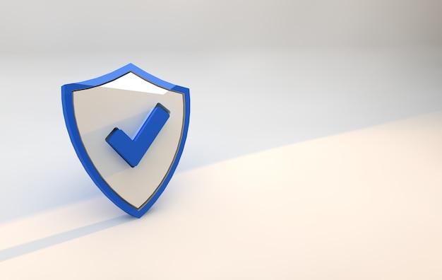 Blue shield sicherheit. cybersicherheit und digitaler datenschutz