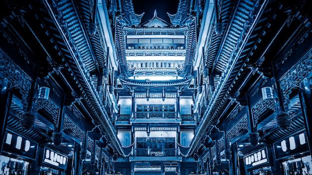 Blue tech-sinn für architektur, hintergrundbilder