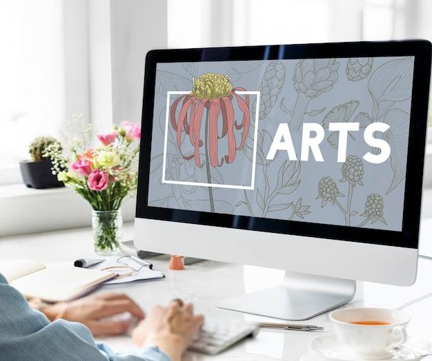 Blühende blumenkunst und kunsthandwerk natur