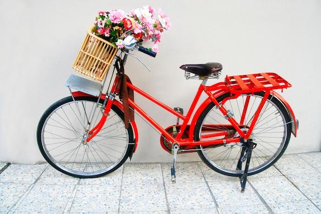 Blume auf dem fahrrad
