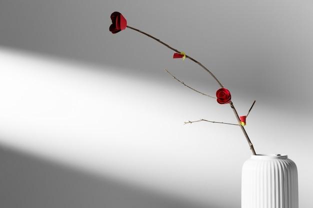 Blume in einer vase neujahr chinesisch 2021