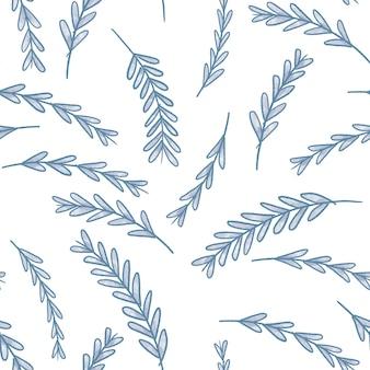 Blume lässt nahtloses muster für tapeten- und textildesign.