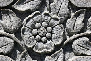 Blume schnitzereien