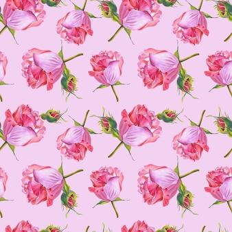 Blumen auf rosa hintergrund