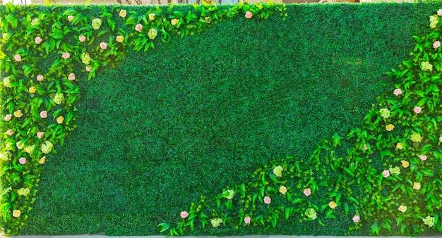 Blumen pflanzenwand