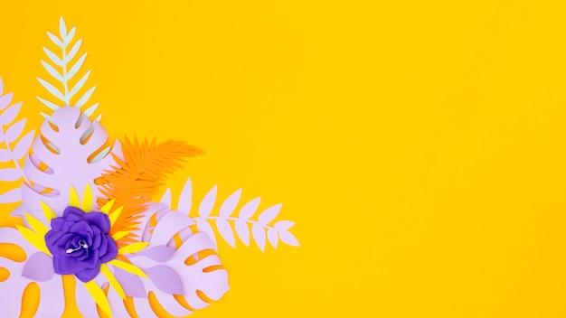 Blumen und blätter aus papier