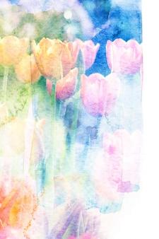 Blumenaquarellillustration.