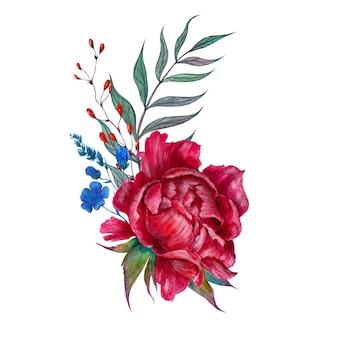 Blumengesteck mit pfingstrose