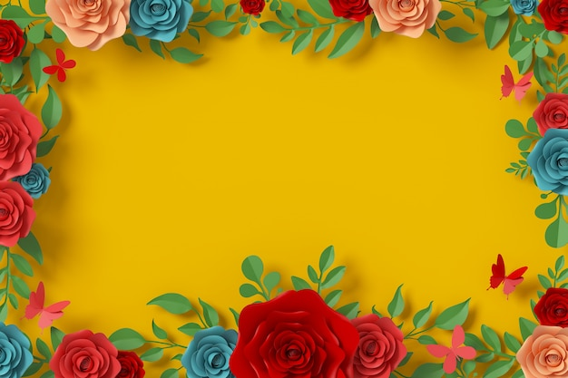 Blumenpapierart