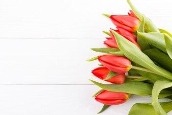 Blumenstrauß aus roten Tulpen