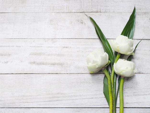 Blumenstrauß aus weißen lotusblüten