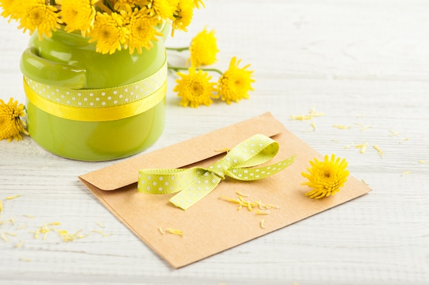 Blumenstrauß, leerer bastelumschlag