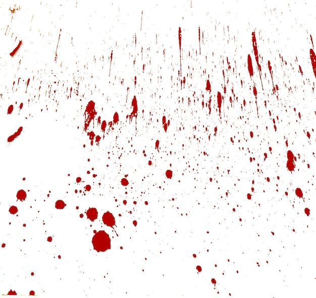 Blut spritzte auf weiß