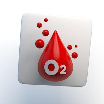 Blutsauerstoffsättigung symbol 3d-darstellung app