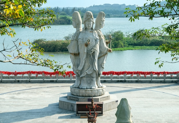 Boao-tempel, statue von guanyin, hainan, china.