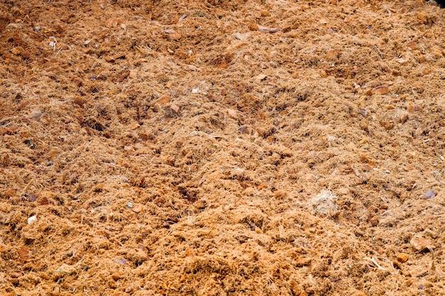 Boden für den anbau, um futter für pflanzen herzustellen