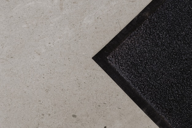 Boden mit fußmatte