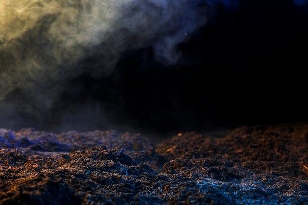 Boden mit nebel