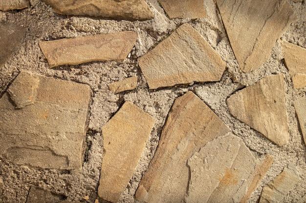 Boden von pflastersteinen