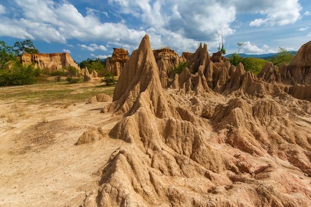 Bodenerosion hat seltsame formen hervorgebracht, heißt
