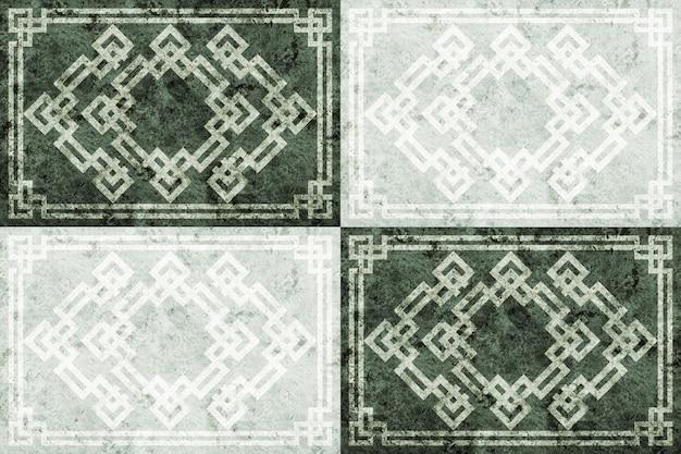 Bodenfliesen aus natursteinmarmor oder granit mit mustern.