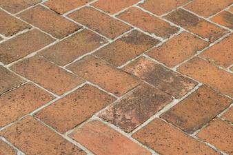 Bodenhintergrund der alten Weinlese roten Ziegelsteines
