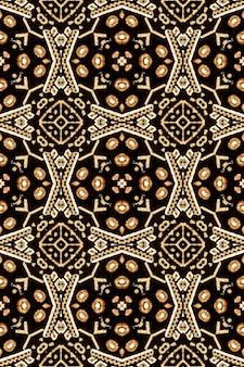 Böhmischer druck. barock muslimisches endloses thema. damast design. tan brown beige polynesischer hintergrund. innen vintage ornament. mexikanischer nahtloser druck.