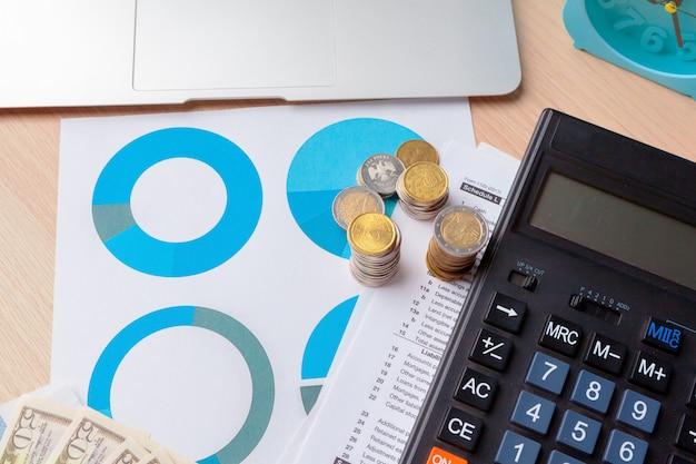 Börse der finanzbuchhaltung stellt analyseabschluß oben grafisch dar