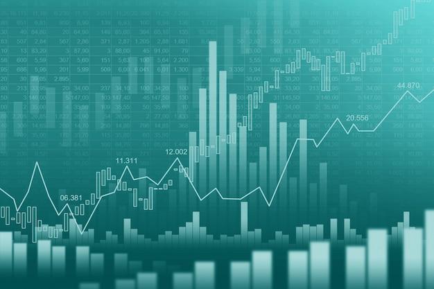 Börse oder forex trading graph