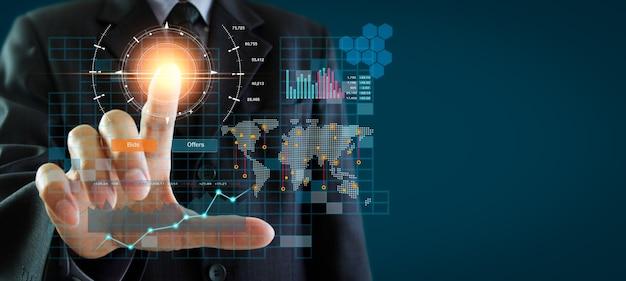 Börsen- oder forex-handelsdiagramm und kerzendiagramm geeignet für finanzanlagekonzept