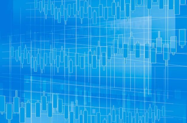 Börsenchart als hintergrund