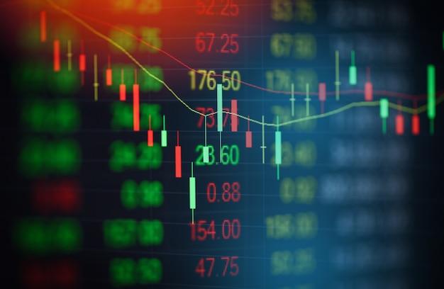 Börsendiagrammgeschäfts-devisenhandelsanalyse-investitionsbörsendiagramm-börsenwachstum oder -krise