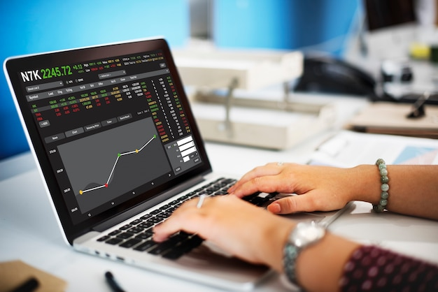 Börsenhandel forex finance grafikkonzept