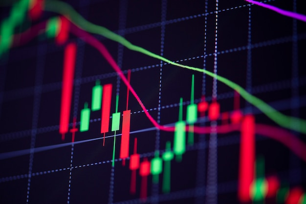 Börsenverlust verlust handelsdiagramm analyse investitionsindikator geschäftsdiagramm diagramme des finanzausschusses anzeige candlestick-krise aktiencrash roter preis diagramm fallen geld -