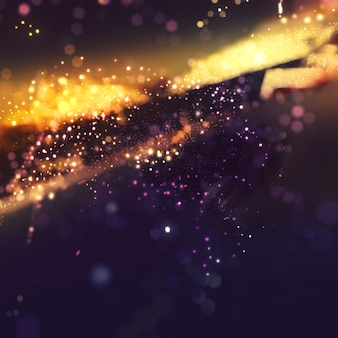 Bokeh glitzern hintergrund mit goldenen lichteffekt