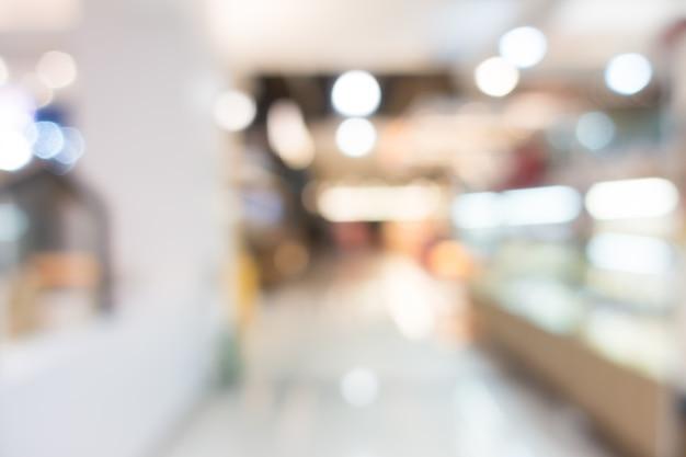 Bokeh hintergrund des einkaufszentrums mit lichtern
