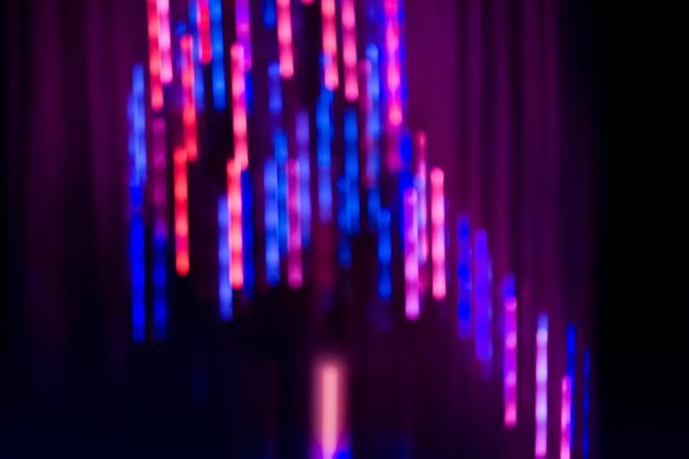 Bokeh lichter auf schwarzem hintergrund. bokeh auszug beleuchtet hintergrund.